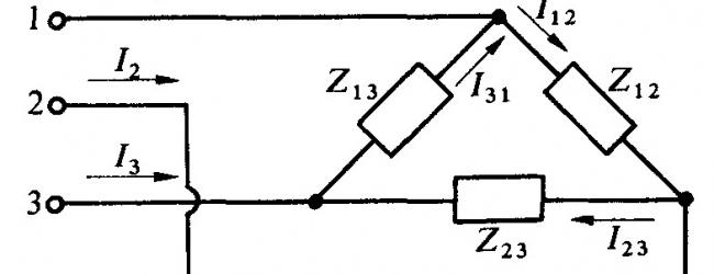 Potenza in un carico a triangolo equilibrato