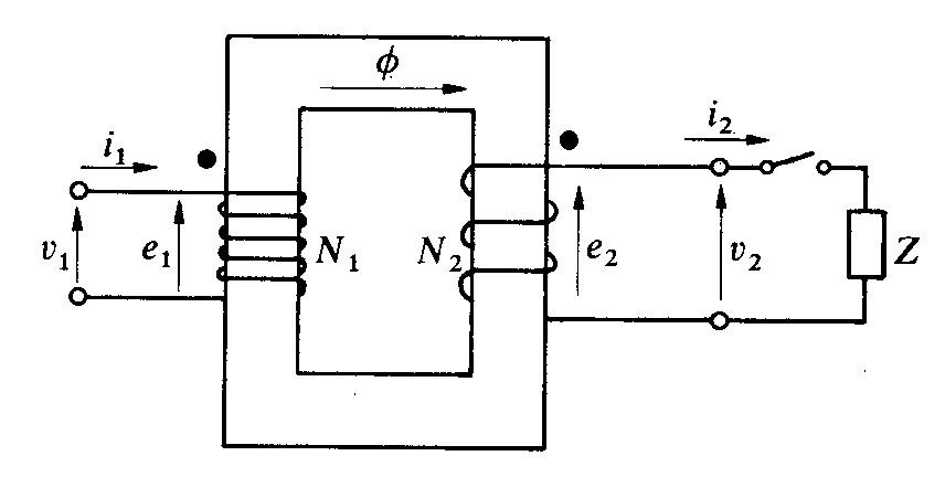 Schema Elettrico Trasformatore : Trasformatore monofase ideale